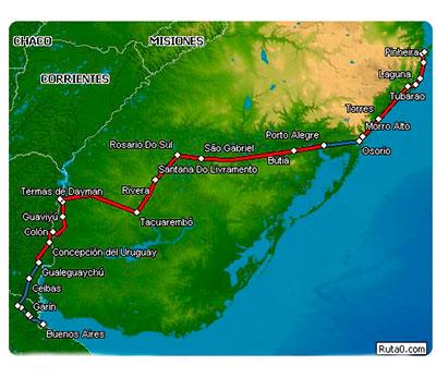 ruta-auto-brasil-rivera