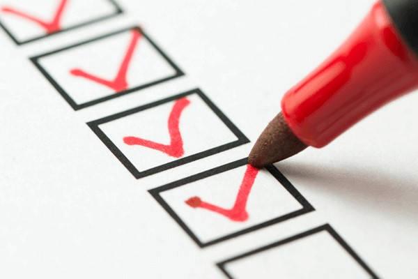 Requisitos para ser Policía checklist