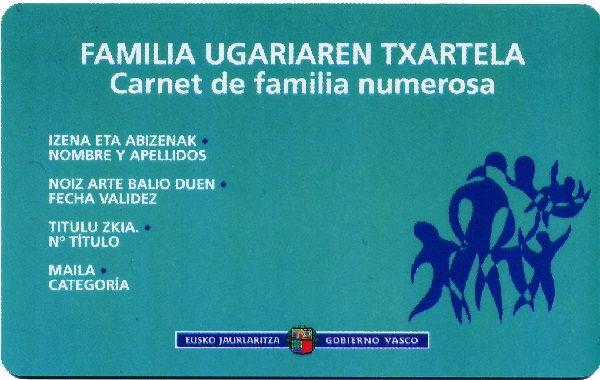 carnet familia numerosa
