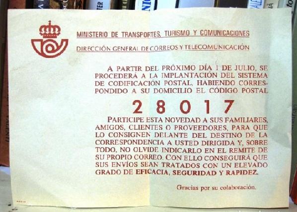 codigo postal