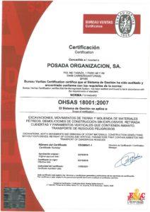 Certificado OHSAS 18001 en España22
