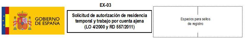 Formulario EX 03
