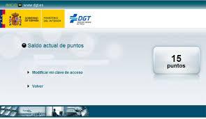 Certificado de Puntos DGT1