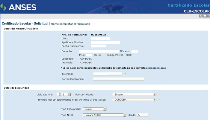 Formulario Ayuda Escolar Anses 2021