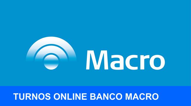 Banco Macro Turno para Atencion online