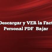 Cómo Descargar y VER la Factura de Personal PDF    Bajar