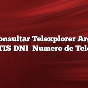 Cómo consultar Telexplorer Argentina GRATIS DNI    Numero de Telefono